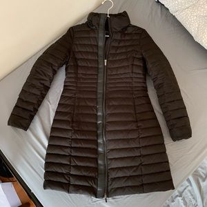 Zara long winter coat with detachable hoodie